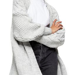Cable Sleeve Cardigan   Nordstrom