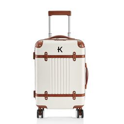 Terminal 1 Carry-On Luggage, White | Mark and Graham