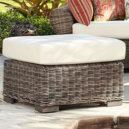 Huntington All-Weather Wicker Sectional Ottoman | Pottery Barn (US)