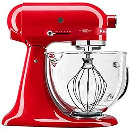 KitchenAid KSM180QHGSD Queen of Hearts Stand Mixer, 5 Qt, Passion Red | Amazon (US)