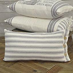 "Piper Classics Market Place Gray Ticking Stripe Pillow Cover, 12"" x 20"", Farmhouse Décor Grey & ... | Amazon (US)"