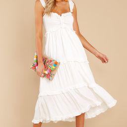 Not A Chance White Maxi Dress | Red Dress