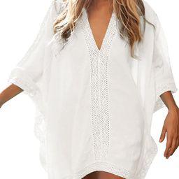 Womens Beach Bathing Suit Swim Bikini Swimsuit Oversized Cover Up Dresses   Amazon (US)