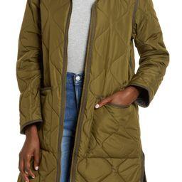 Reversible Quilted Longline Jacket | Nordstrom