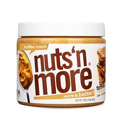Nuts 'N More Toffee Crunch Peanut Butter Spread, All Natural High Protein Nut Butter Healthy Snac... | Amazon (US)