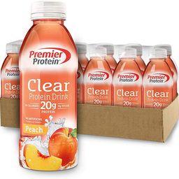 Premier Protein Premier Clear Protein Drink Peach (12/16.9 Fl Oz Net Wt 202.8 ), 202.8 Fl Oz | Amazon (US)