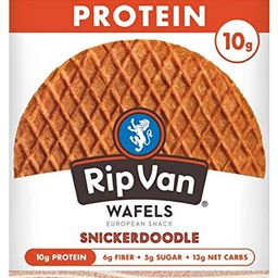 Rip Van Wafels Snickerdoodle Stroopwafels - High Protein Snacks (10g Protein) - Non GMO Snack - K... | Amazon (US)