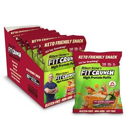 Fit Crunch Low Carb Protein Puffs, Keto-Friendly High Protein Puff Snack, Low Sugar, Non-GMO, Glu... | Amazon (US)