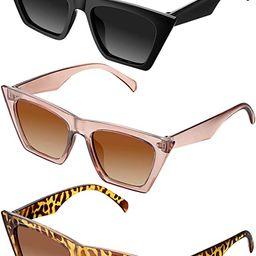 3 Pairs Vintage Square Cat Eye Sunglasses Unisex Small Trendy Cateye Sunglasses   Amazon (US)