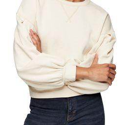 Pleated Sleeve Sweatshirt | Nordstrom