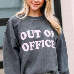 friday + saturday: out of office corded sweatshirt   RIFFRAFF
