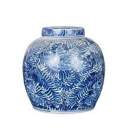 Handmade Blooming Flowers Ancestor Decorative Jar | Overstock
