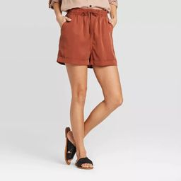 Women's Mid-Rise Tie-Front Utility Shorts - Universal Thread™ | Target