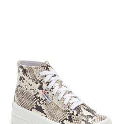 Superga Alpina Snake Embossed High Top Platform Sneaker (Women)   Nordstrom
