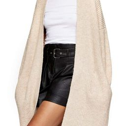 Topshop Ribbed Open Front Cardigan   Nordstrom