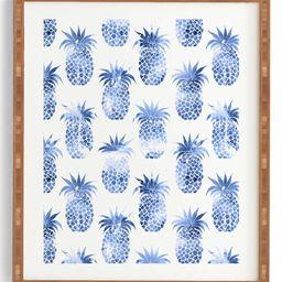 Deny Designs Pineapples Blue Framed Wall Art   Nordstrom