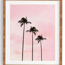 Deny Designs Palm Trees & Sunset Framed Wall Art   Nordstrom