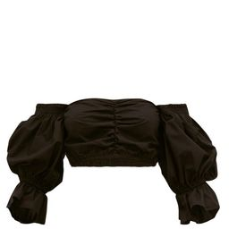 Sir - Blair Off-the-shoulder Cotton-poplin Top - Womens - Black   Matchesfashion (UK)