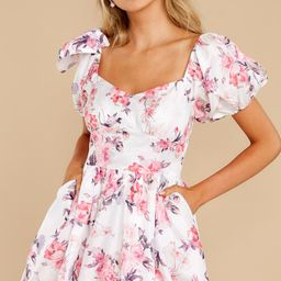 Spring In Your Step White Floral Print Dress | Red Dress
