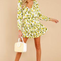 Have It Made Lemon Print Dress | Red Dress