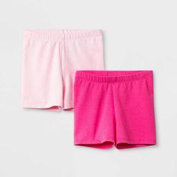 Toddler Girls' 2pk Tumble Shorts - Cat & Jack™ Light Pink/Dark Pink | Target