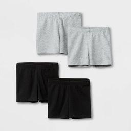 Toddler Girls' 4pk Tumble Shorts - Cat & Jack™ Black/Gray | Target