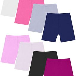 Resinta 8 Pack Black Dance Shorts Girls Bike Short Breathable and Safety 8 Color | Amazon (US)