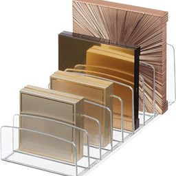 """iDesign Clarity BPA-Free Plastic Divided Makeup Palette Organizer, 9.25"""" x 3.86"""" x 3.2"""", Clear 