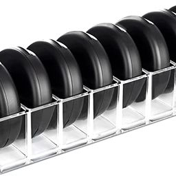 hblife Clear Acrylic Compact Organizer Blushes Highlighters Eyeshadow Makeup Organizer, 8 Spaces | Amazon (US)