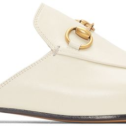 GucciWhite Princetown Slippers201451F121106$750 USDGrained leather slippers in white. Almond moc ...   SSENSE