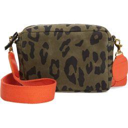 Midi Leopard Print Leather Crossbody Bag   Nordstrom