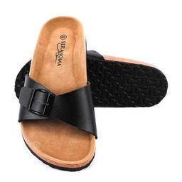 Seranoma - Seranoma Women's Open Toe Adjustable Buckle | Slip On Slide - Walmart.com | Walmart (US)