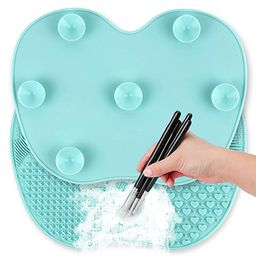 Ranphykx Silicon Makeup Brush Cleaning Mat Makeup Brush Cleaner Pad Cosmetic Brush Cleaning Mat P... | Amazon (US)