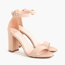 Stella heels with ankle strap in leather | J.Crew US