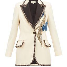 Gucci - Embroidered And Embellished Wool Blazer - Womens - Ivory Multi   Matchesfashion (UK)