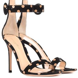 Portofino 105 polka-dot suede sandals   Mytheresa (INTL)