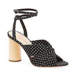 Loeffler Randall Tatiana Polka Dot Cotton Sandals - Black/Crea - Size 10.5   Saks Fifth Avenue