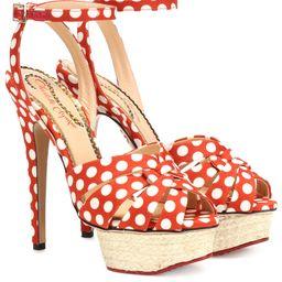 Dolly polka-dot plateau sandals   Mytheresa (US)