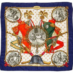 Hermès Napoleon Scarf - Ledoux - Vintage Lux - navy/multi | One Kings Lane