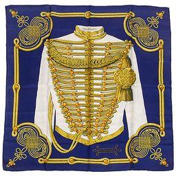 Hermès Brandebourgs Scarf - Vintage Lux - blue/gold | One Kings Lane