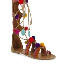 Mia Women's Renata Pom Pom Gladiator Sandals - | Belk
