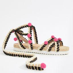 ASOS DESIGN Just Play Pom Sandals Espadrilles-Multi | ASOS (Global)