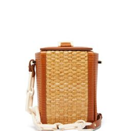 Nico Giani - Cerea Lizard-embossed Leather And Straw Bag - Womens - Tan Multi | Matchesfashion (UK)