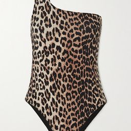 GANNI - One-shoulder Leopard-print Swimsuit - Leopard print | Net-a-Porter (US)