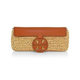 Tory Burch Miller Straw Clutch - Natural   Saks Fifth Avenue