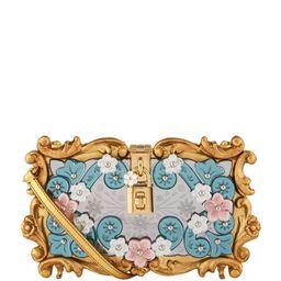 Dolce & Gabbana Floral Padlock Clutch Bag   Harrods