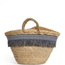 Rae Feather Aztec-Trim Basket Bag   Harrods