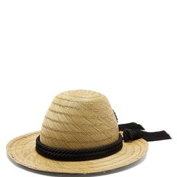 Gucci - Passementerie-trim Straw Hat - Womens - Black   Matchesfashion (UK)