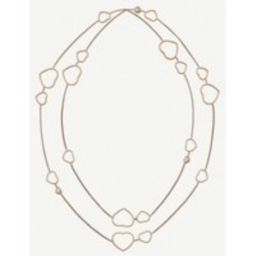 Happy Hearts 18ct rose-gold and diamond necklace | Selfridges
