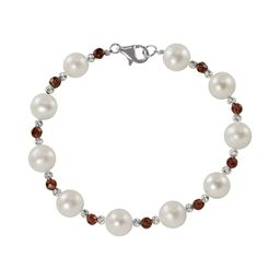 Sterling Silver Freshwater Cultured Pearl and Garnet Bead Bracelet, Women's | Kohl's